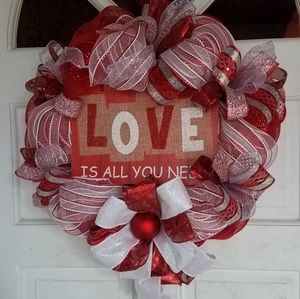 Other - Beatles Inspired Valentine' Day Wreath